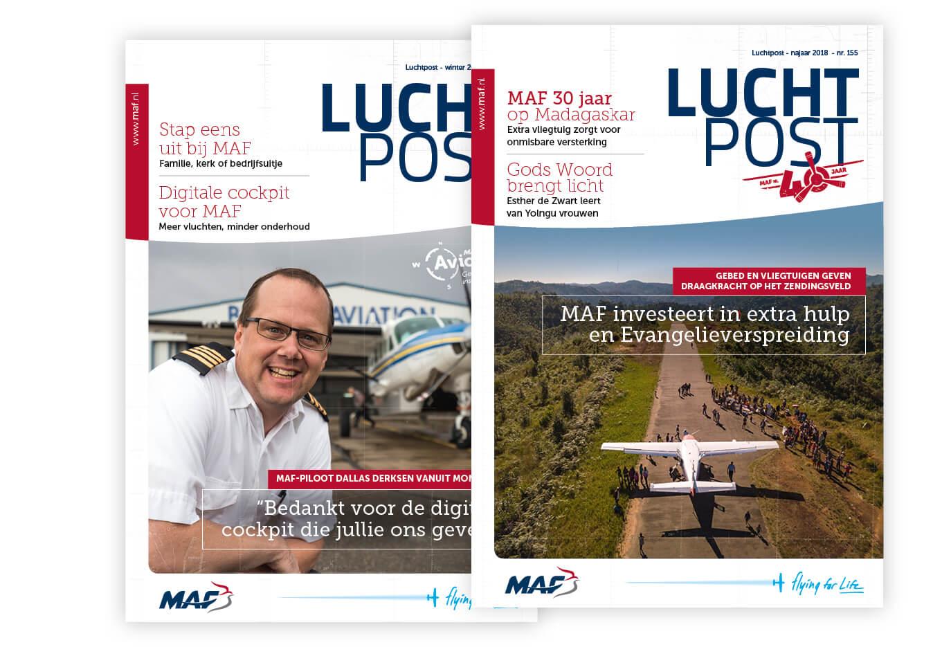Printcampagnes 2015-2019 – MAF Nederland