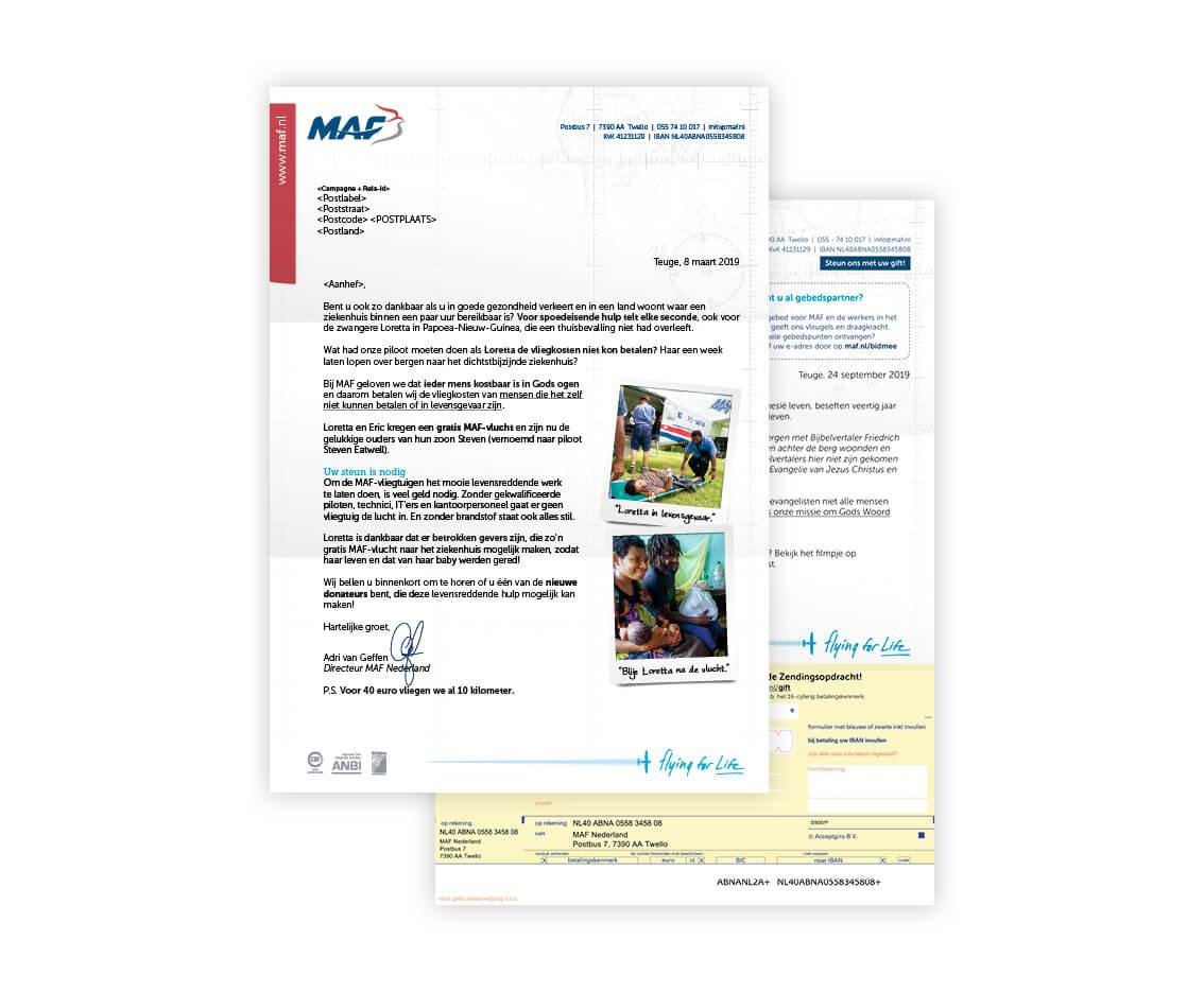 Fondswervende mailings – MAF Nederland